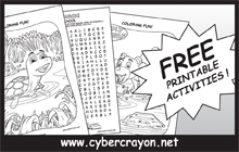 Free printable activities at cybercrayon.net!