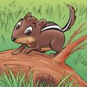 Cuddly Critters (tm) cute cartoon animal character: Charlie Chipmunk