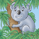 Cuddly Critters (tm) cute cartoon animal character: Kerwin Koala