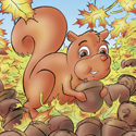 Cuddly Critters (tm) cute cartoon animal character: Skippy Squirrel